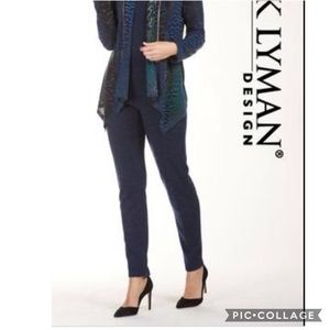 NWT Frank Lyman Blue Knit Pull On Trouser Pants 20